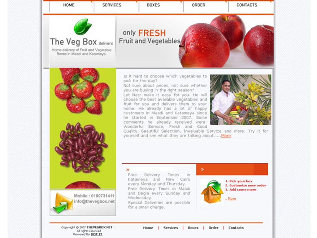 The Veg Box Website