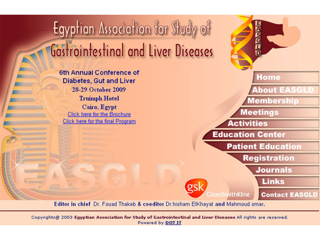 Egyptian Association For Study Of Gastrointestinal And Liver Diseases Website