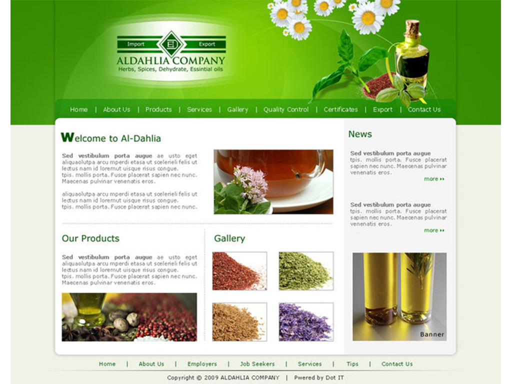 Al-Dahlia Company Website