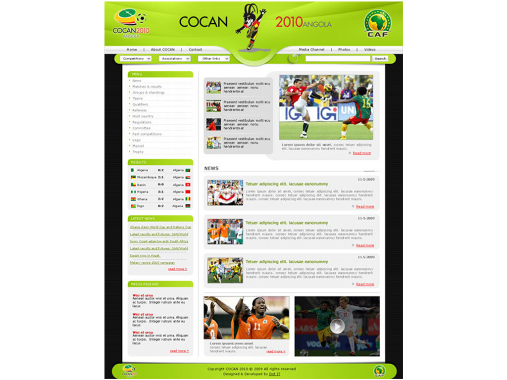 Cocan 2010 Angola Website