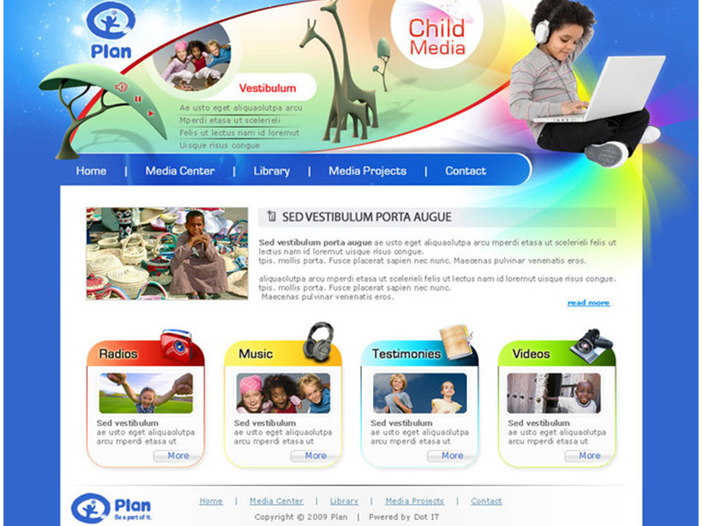 Plan - Child Media Website