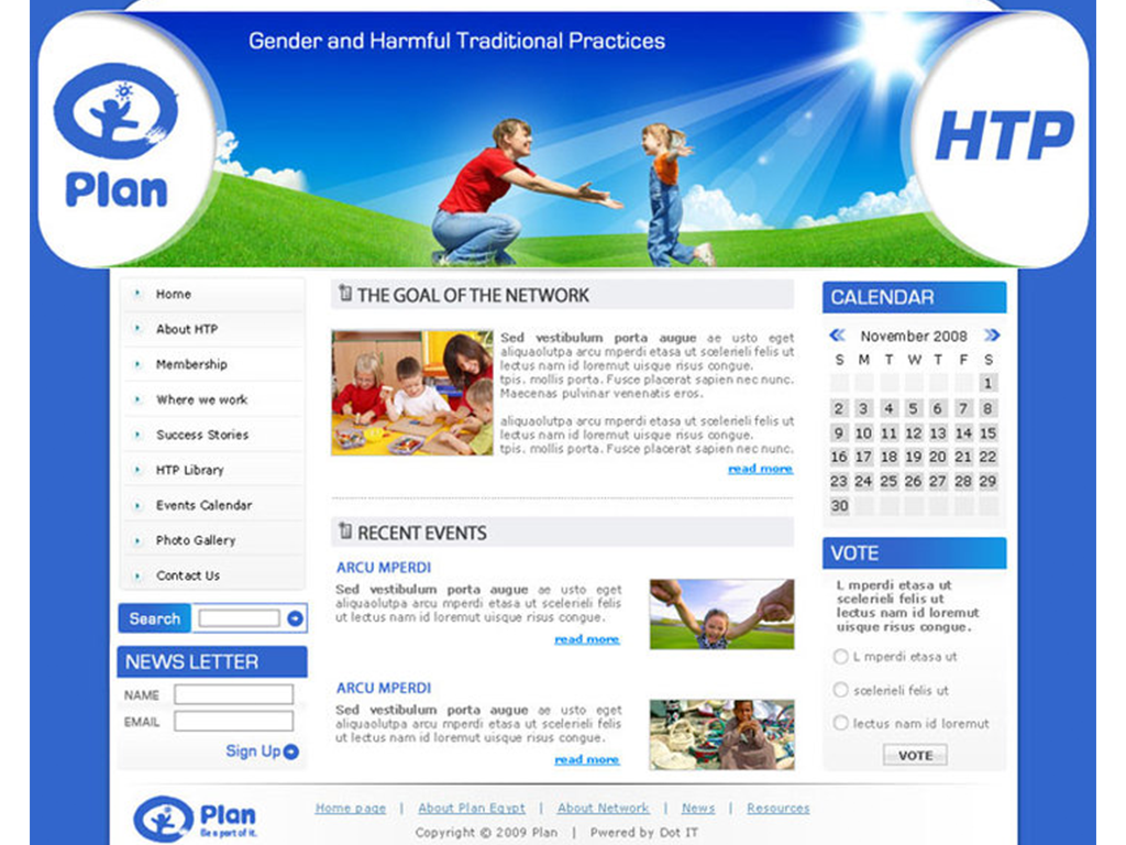Plan - Gender And Harmful Tradition Practices Website