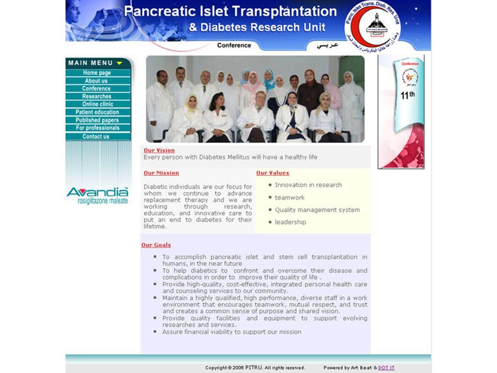 Pancreatic Islet Transplantation & Diabetes Research Unit Website