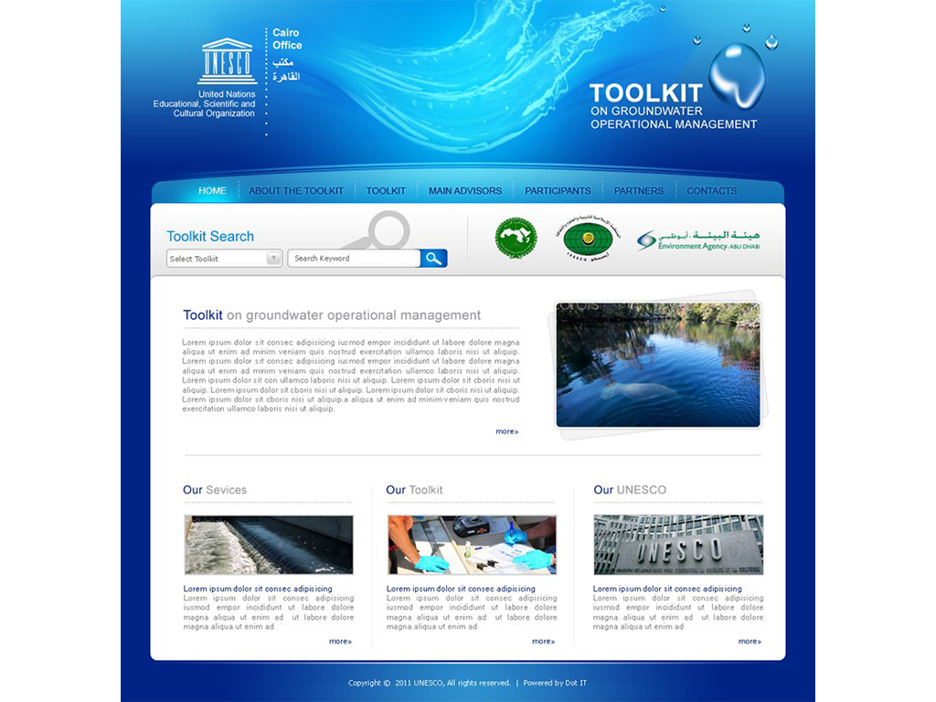"""Operational Management Of Groundwater """"Toolkit"""" Website"""