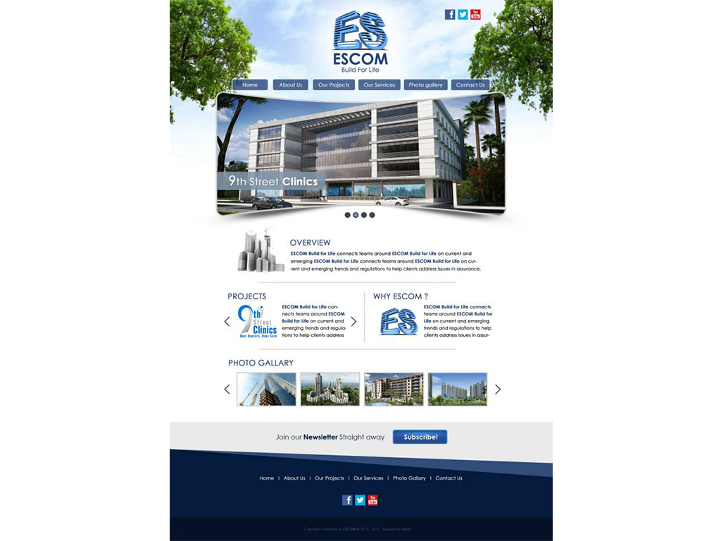 Escom Company Website