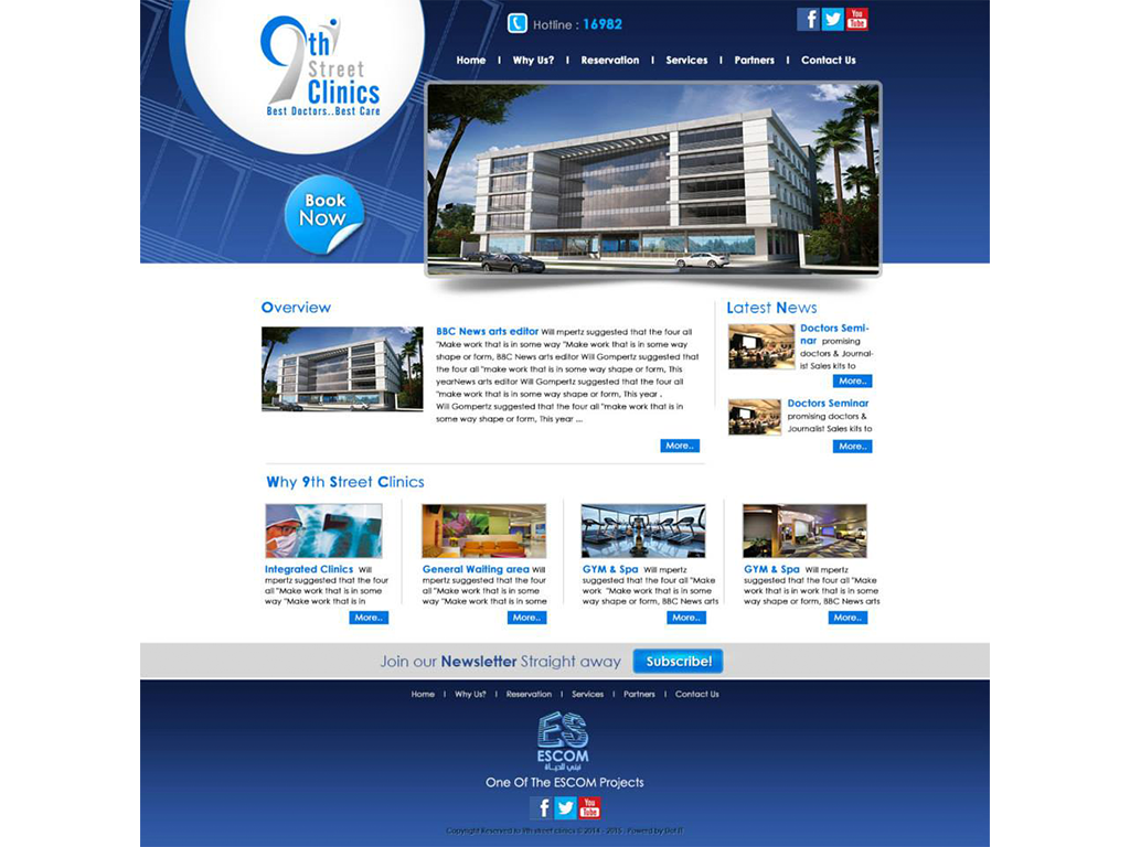 9th Street Clinics Website
