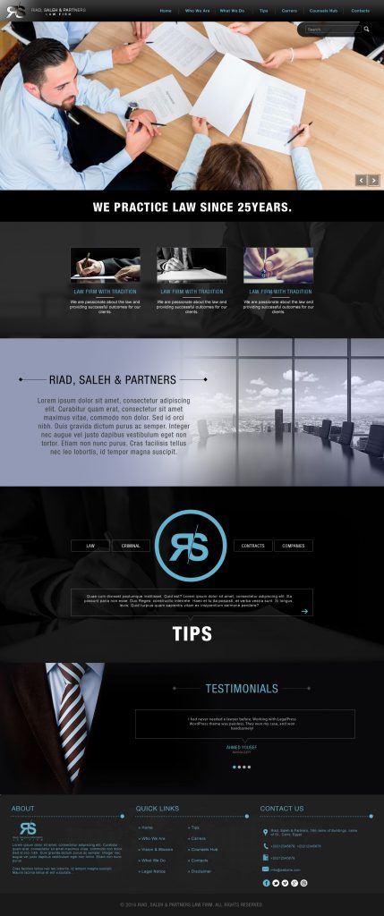 Riad, Saleh & Partners Website
