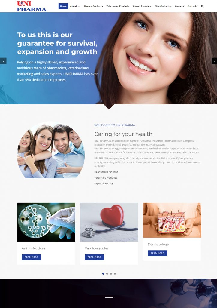 UniPharma Website